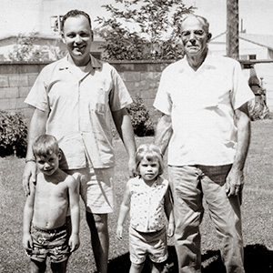 Walt, Steve, Susan and Ernie Wilkison 1960